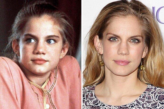Antes y después de la niña de Mi primer beso
