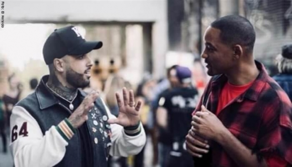 Will Smith trató a Nicky Jam como un animal
