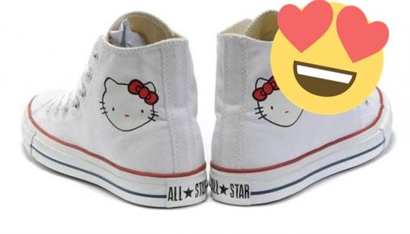 015ee8415a ¿Te gusta Hello Kitty  ¿Y los Converse  Mira…
