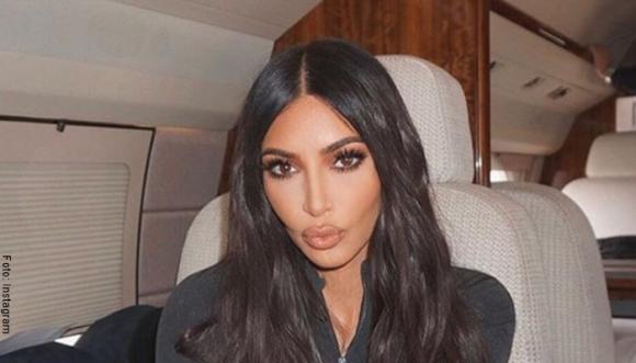 Kim Kardashian pillada en apretado enterizo rosado