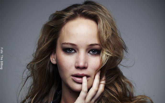 Foto de Jennifer Lawrence con labial nude