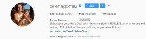 Cuenta de Instagram de Selena Gomez