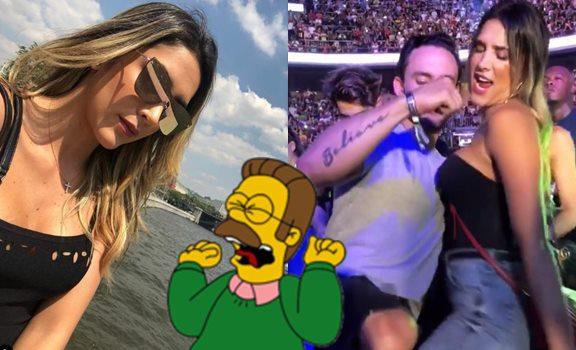 Foto de la fiesta en la que a Daniela Ospina le agarran un seno