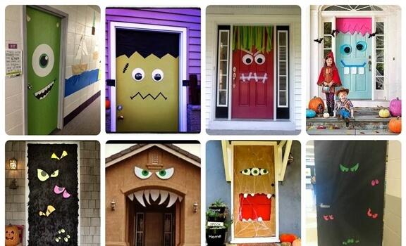 Decoración De Puertas En Halloween Están Increíbles Vibra