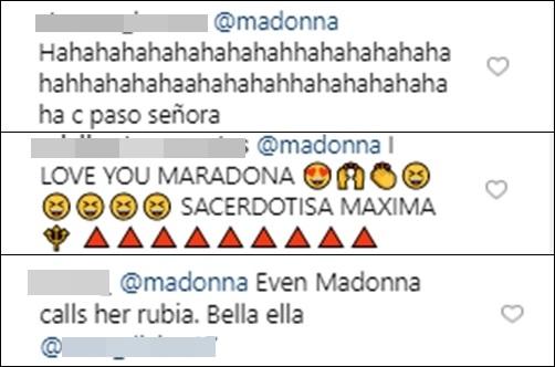 Print de comentarios en el Instagram de Maluma