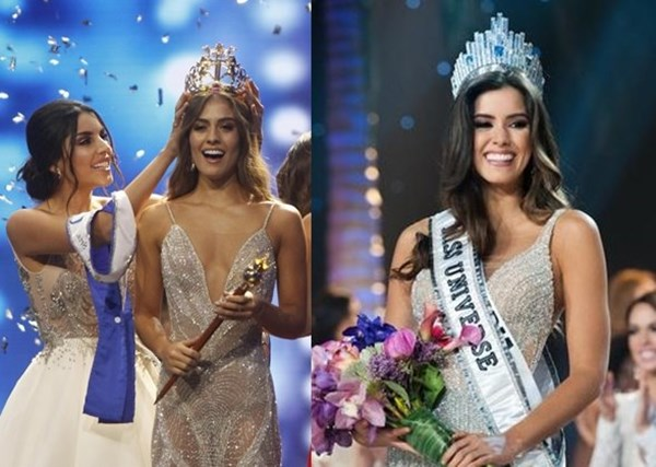 Foto de Miss Universo 2018 Paulina Vega versus Valeria Morales