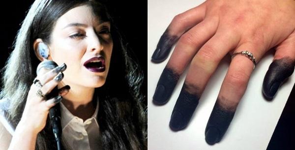 Foto de las uñas de Lorde