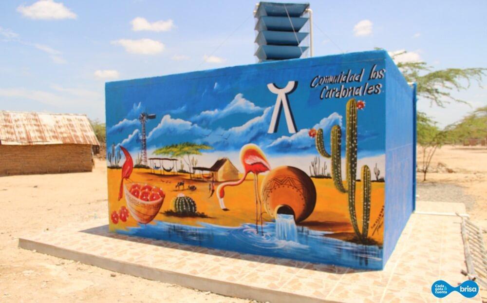 Tanque de agua potable ubicado en Cardonales Guajira