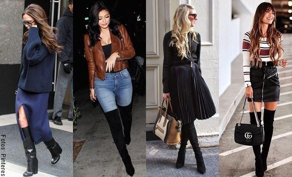 5 pintas con botas altas negras