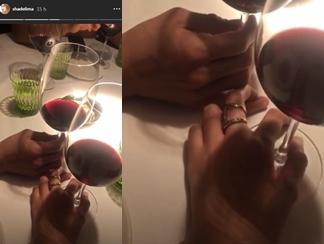 Foto de las manos entrelazadas que serían las de James Rodríguez y Shannon de Lima