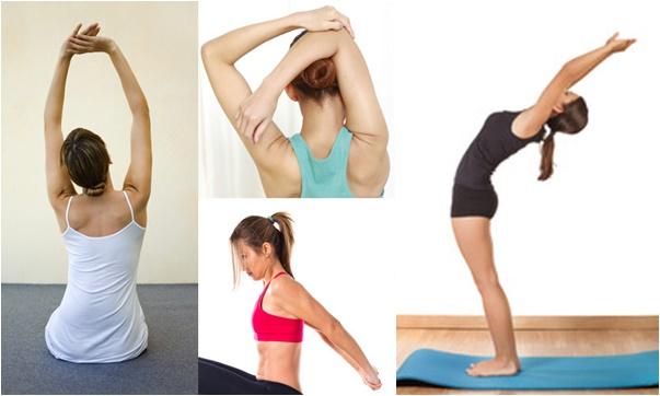 Estiramiento después de los ejercicios para gorditos en la espalda