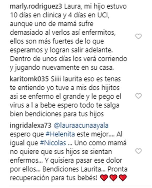 Palabras de apoyo a Laura Acuña y sus hijos enfermos