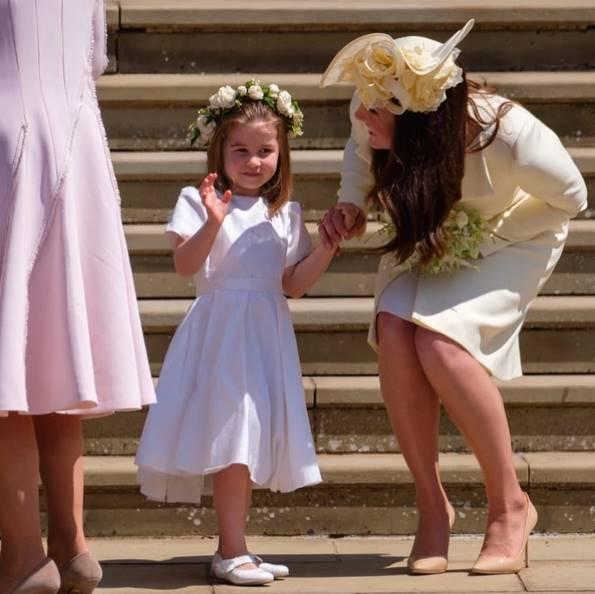 Kate Middleton y su hija en el matrimonio de su cuñada