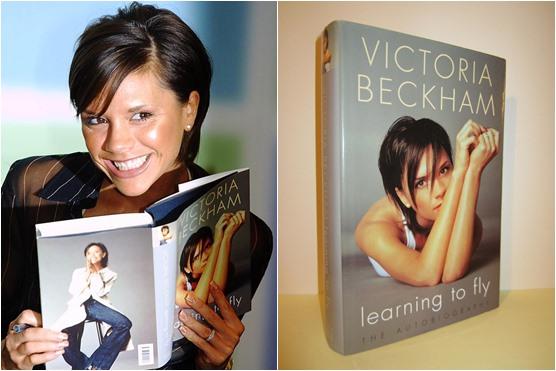 Foto de Victoria Beckham con su libro
