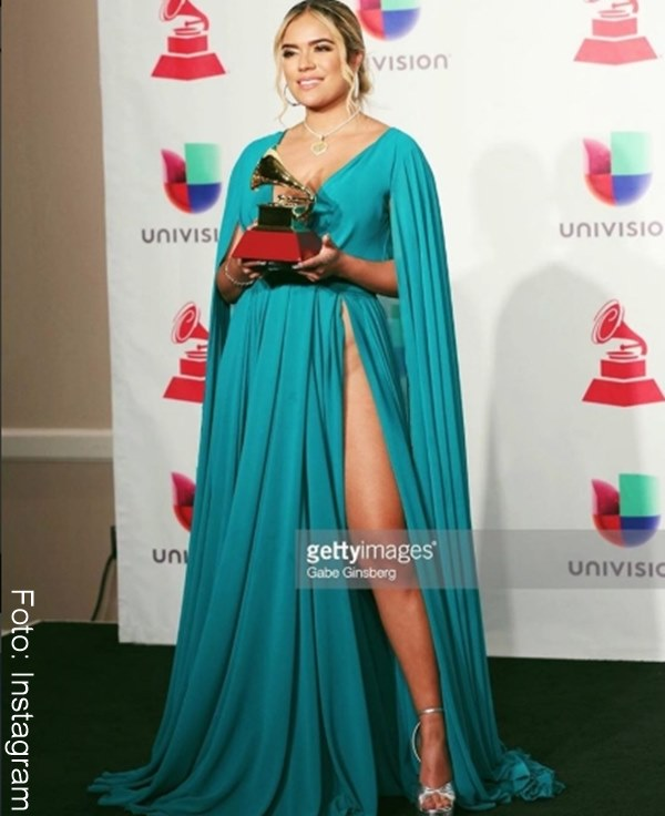 Foto del vestido de Karol G en los Grammy Latinos 2018