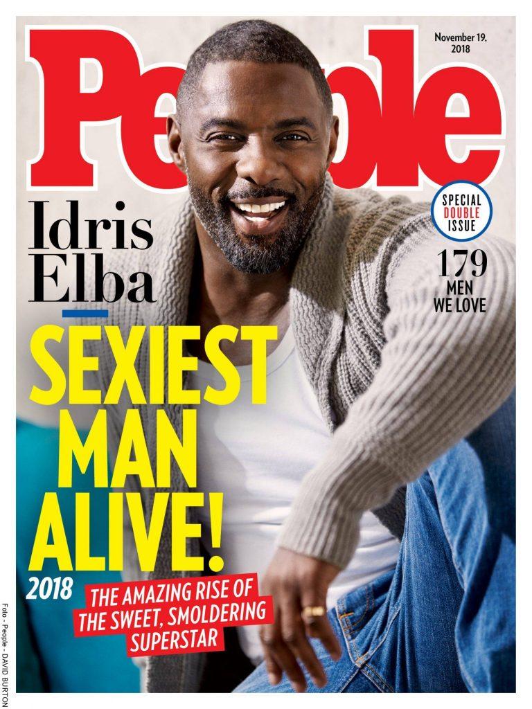 Portada de la Revista People con el actor Idris Elba