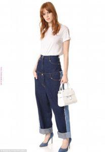 Jean ancho sobre jean