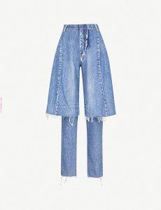 Pantaloneta de jean sobre pantalón de jean