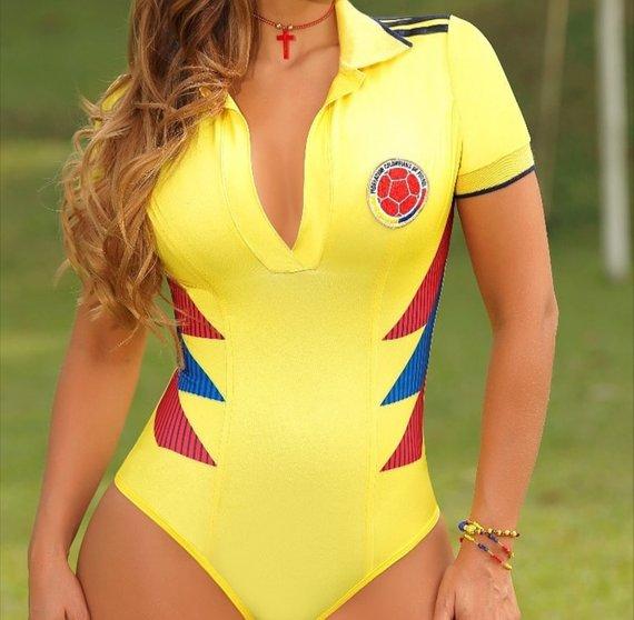 Body de la Selección Colombia amarillo