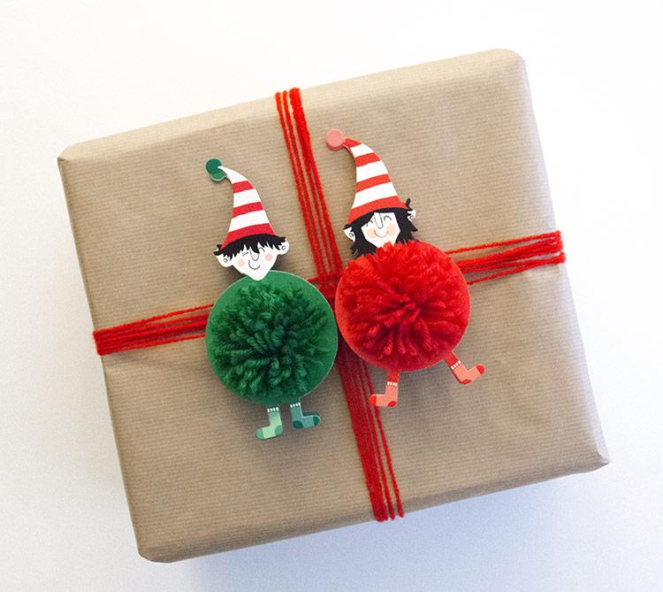 segunda idea de cómo envolver regalos para navidad