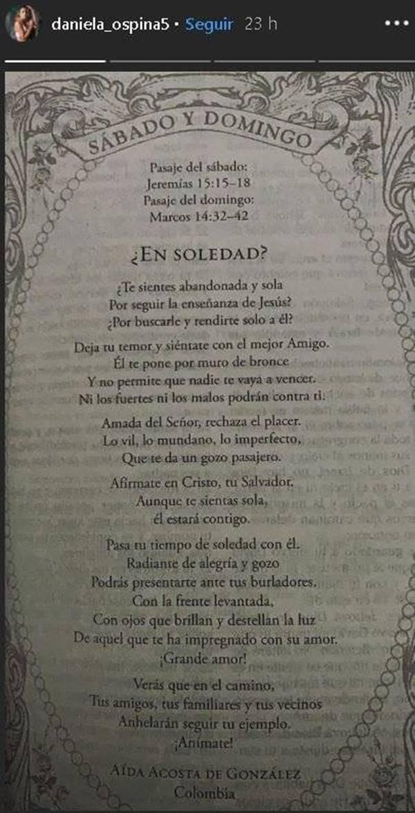 Mensaje bíblico de Daniela Ospina