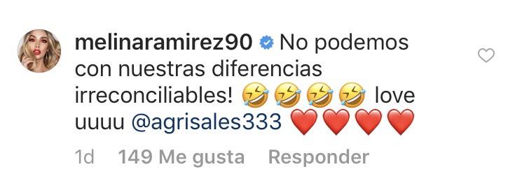Comentario de Melina Ramírez sobre Amparo Grisales