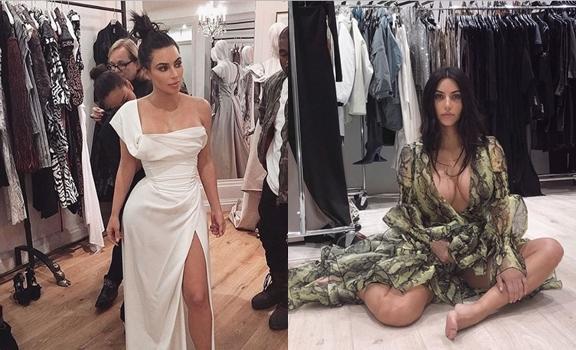 Kim Kardashian con vestidos
