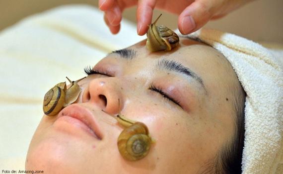 Uno de los tratamientos de belleza más raros. mascarilla de caracol