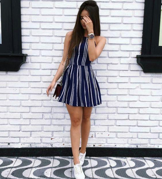 Outfits con tenis - vestido