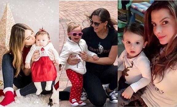 fotos de famosas colombianas por sus hijos