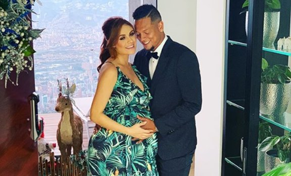Sara Uribe y Fredy Guarín a pocas horas de ser padres