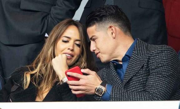 Video de James Rodríguez y Shannon de Lima en el Santiago Bernabéu