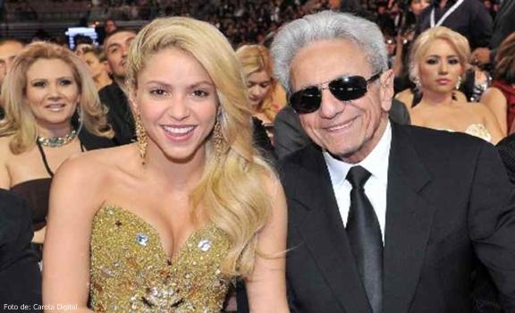 Foto de Shakira y de su papá