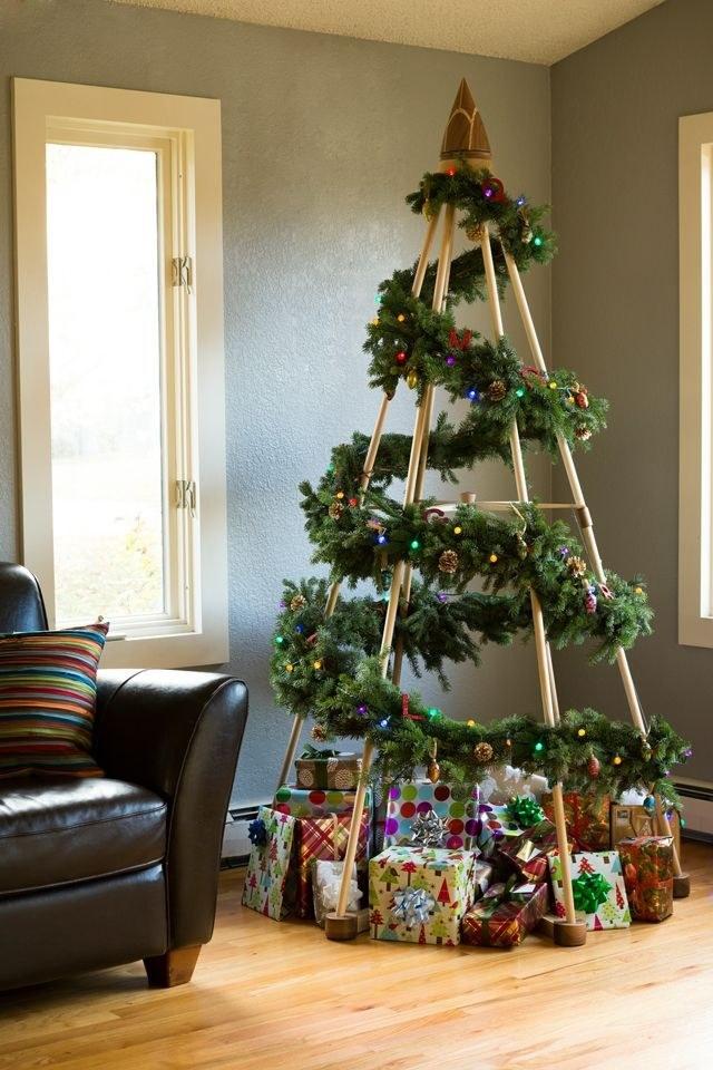 Top 10 de Arbolitos de Navidad unicos y creativos palos de balso