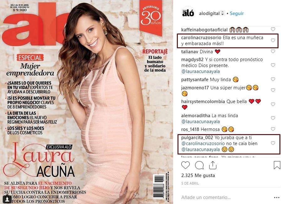 Carolina Cruz comente foto de Laura Acuña