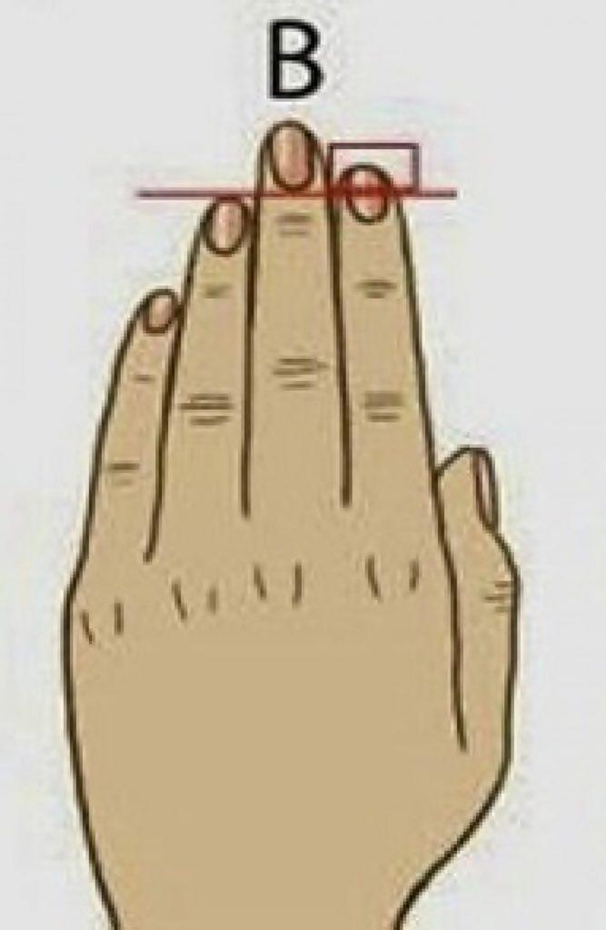 Esto es lo que dice el tamaño de tus dedos sobre tu personalidad Tipo B