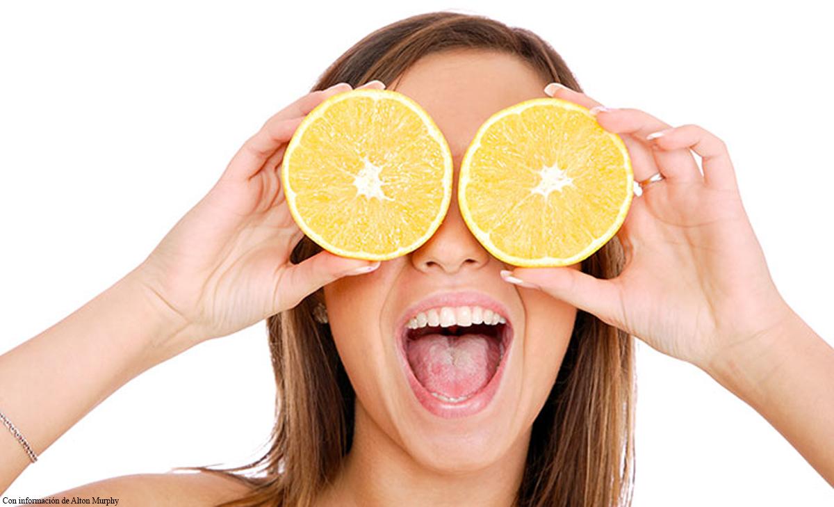 imagen de la naranja, uno de los Alimentos para la piel