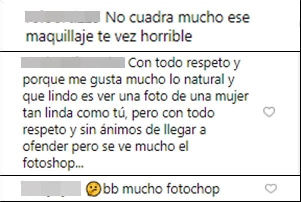 Críticas a foto de Melina Ramírez