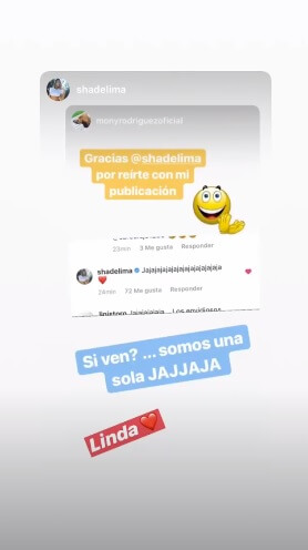 Story de Mónica Rodríguez