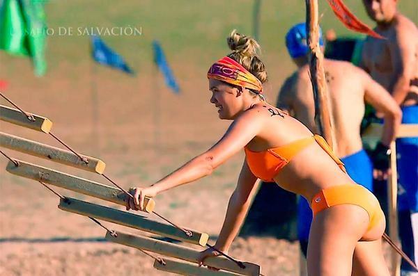Foto de la cola de Daniela Tapia durante su participación en el Desafío