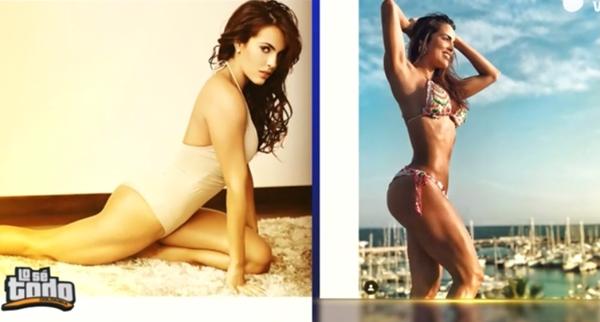 Foto antes y después de la cola de Sara Corrales