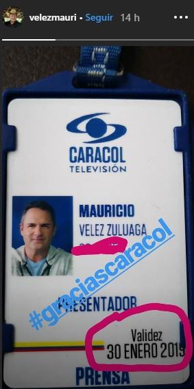 Carnet Mauricio Vélez