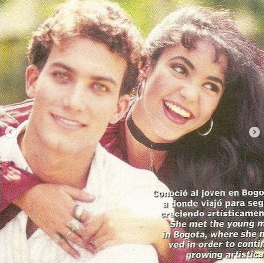 Foto de Shakira con su primer novio