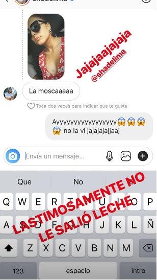pantallazo de mensaje de Shannon de Lima