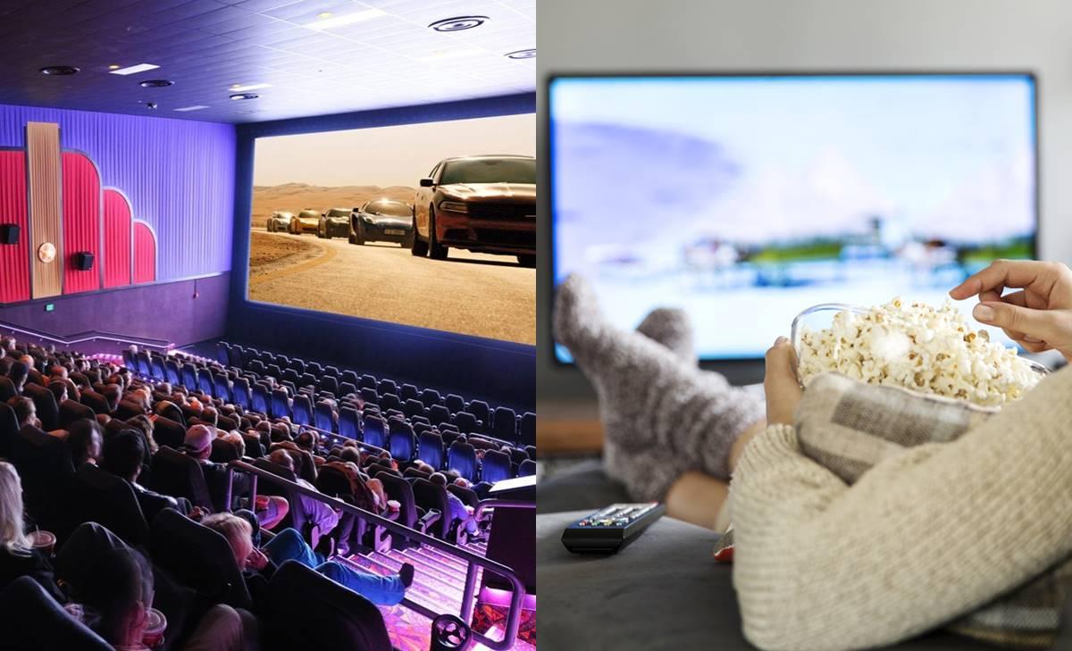 ¿Ver película en tu casa o ir a la sala de cine?
