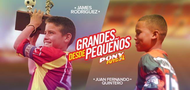 James Rodríguez y Juan Fernando Quintero de niños Campeones