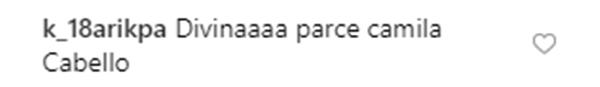 Print de comentario que compara a Jessica Cediel con Camila Cabello