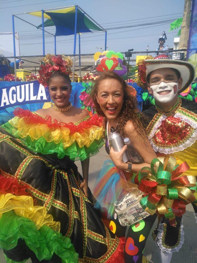 Karen y Toño se fueron para el Carnaval de Barranquilla
