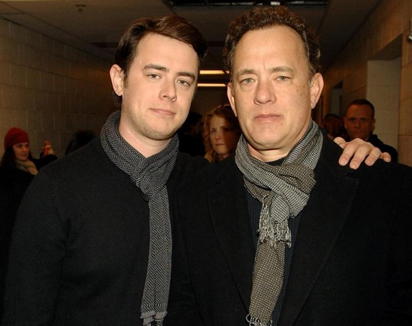 Foto de Tom Hanks y su hijo Colin