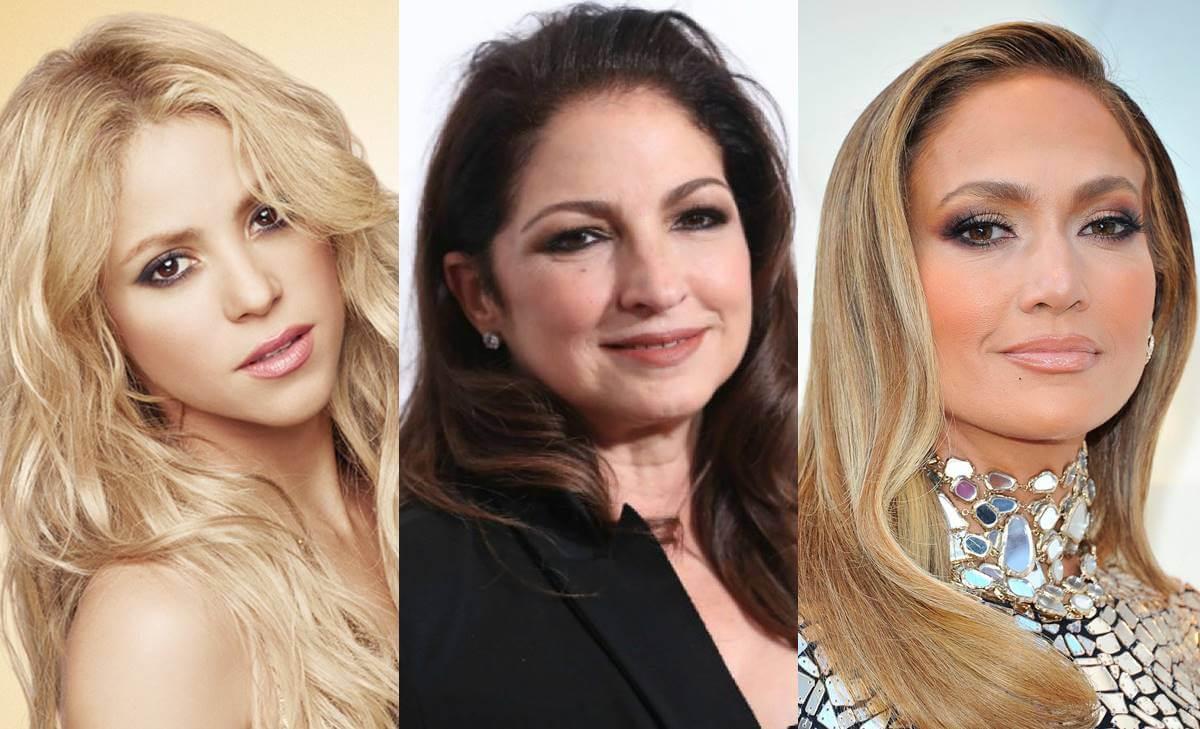 Jennifer Lopez, Gloria Estefan y Shakira antes y después